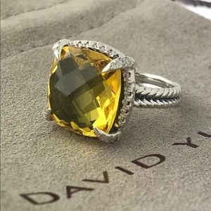 David Yurman Lemon Citrine Ring! 6.5